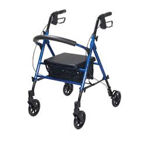 Clever Lite Folding Rollator with Seat, Brakes & 5 Wheels