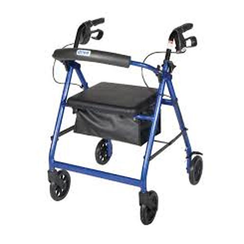 Combination 4-Wheel Rollators & Transporter Wheelchair