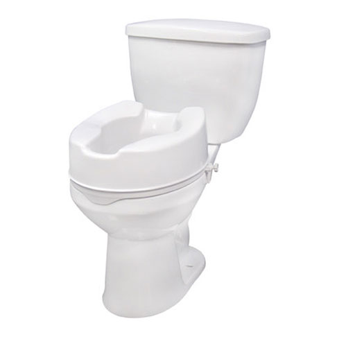 Raised Plastic 6 Toilet Seat